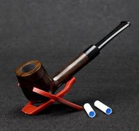 10 Tools Set Ebony Wood Smoking Pipe 17cm Straight Smoking Pipe Creative 9mm Filter Smoking Pipe Set
