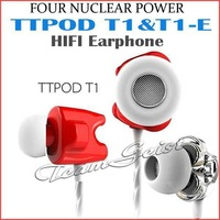 2014 Original TTPOD-T1/Enhanced Professional HIFI In-ear Earphone High Fidelity Definition with Dual Dynamic Quad Core earphones