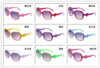 Free Shipping kids plastic smoked spectacles multi colors anti UV400 sun glasses popular8colors  decoration eyewear
