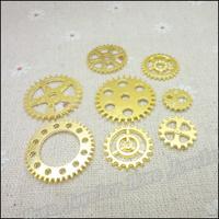 Mix 96  pcs Charms Gear Pendant  Gold color  Zinc Alloy Fit Bracelet Necklace DIY Metal Jewelry Findings