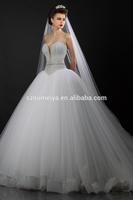 ONW738 Heavy Beaded Rhinestone Diamond Bling Ball Gown Princess Lebanon Designer Wedding Dresses 2015