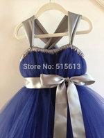 2014 European&America high quality children clothings,Flower  baby Girl Wedding purple Dress,Handmade Kids TUTU Party Costumes
