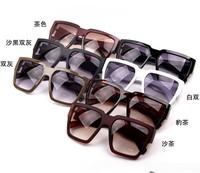 2014 Fashion Vintage Star l13-1 Male /Women Big Black Large Sunglasses Box Unisex Design Fashion Stylish men Glasses 6 colors