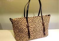 2014 Fashion  Women Leopard Leather Messenger Bags Shoulder Bag Handbag Fashion Unique Vintage Punk Design