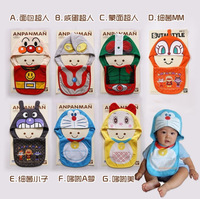 New Baby Toddler Cartoon One set 2 In One Hat and Feeding Bib