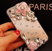 2014 New Crystal rhinestones Silver Flower Cover diamond case For Lenovo a356 s820e s720 s890 a860e s650
