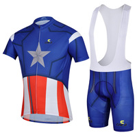 COOL! 2015 Captain America road racing ciclismo Cycling Jersey Bike Clothing bicycle bib shorts Maillot suits Free Shipping