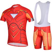 COOL! 2015 Iron Man road racing ciclismo Cycling Jersey Bike Clothing bicycle apparel bib shorts Maillot suits Free Shipping