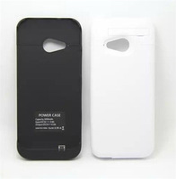 3000mAh No Fllap External Battery Backup Stand Charger Case Power Case For HTC One M8 Mini One Mini 2
