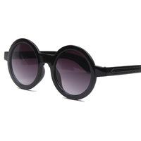Fashion popular circular frame sunglasses unique horizontal stripe decoration sunglasses 10 colors