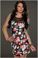 New arrival, High quality! Fashion o-neck print mini Dress, Clubbing Dresses, One Size, DL21620