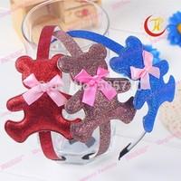 bear design girl headband  boutique hair bow kids hair bows Girls' hair accessories 2014951
