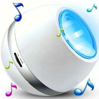 USB Rechargeable Colorful Romantic Mini Portable LED Light Living Colors with FM Radio and Speaker for Mobile Phone Mp3