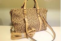 Hot Sale 2014 Women Leopard Casual Messenger Shoulder Bag Handbags Fashion Unique Punk Design High Quality
