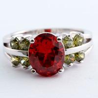 hot sale fashion Oval Cut  Silver Ring Size 9 R1-0025-1442-9