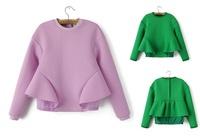 pull over long-sleeves poncho sweatshirts batwing waist lining women velour tracksuit ladies jacket sweat suits women coat gift