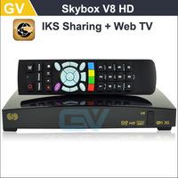 Original Skybox V8 HD Satellite Receiver S-V8 support 2xUSB USB Wifi WEB TV Cccamd Newcamd YouTube YouPorn Weather Forecast V8