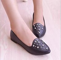 NEW arriving women hot shoes,casual and fashion women flat heel single shoes Rhinestone women shoes