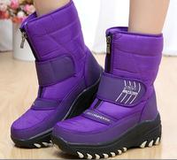 Brand designer women winter flat boots platform waterproof snow boots fashion female warm plush liner short ankle boots shoes