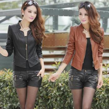 2014 новая коллекция весна лето женское пальто с коротким мотоцикл кожаная куртка ...