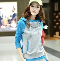 New 2014 Autumn Women Sweatshirt Fashion Sport Suit Pullover Fleece Warm Girls Winter Clothing free shipping  A703