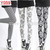 Y059- Hot Fashion Plover case leggings Women flower leggings  flag nine minutes of pants free shipping