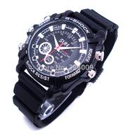 1080P Hidden Watch Camera W1000 With IR Night Vision 4GB/8GB/16GB 1920*1080 30FPS High Resolution Waterproof Watch DVR 2pcs/lot