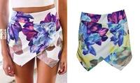 2014 new arrived printing  Lotus flower fashion women shorts
