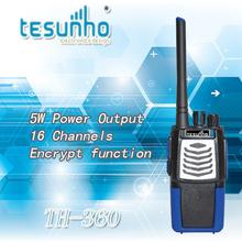 2pcs free shipping TH-360 5w voice encryption uhf 400-480mhz 2 way radio