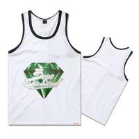 wholesale/retail mens hip hop fashion tank tops sleeveless shirt top brand diamond vest free shipping