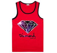Fashion cheap mens tank tops Diamond hip hop High quality brand designer cool sleeveless cotton men's vest Diamond Supply