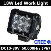 18w 1260LM CREE Led Work Light Bar LED Off Road LED Work Light Worklamp Spot Beam ATV SUV Mine Boat Lamp