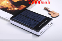 Hot sale 50000mAh Solar Power Bank Backup Battery Solar Charger 50000mAh for GPS MP3 PDA Mobile Phone free shipping #65