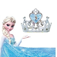 Free Shipping Frozen Elsa Costume Crown Dress Accessories Children's Crown Princess' Handbands Girl's Hairpin For Christmas Gift