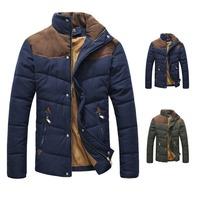 Men's Winter Warm Thermal Wadded Jacket Slim Style Cotton-padded Winter Coat