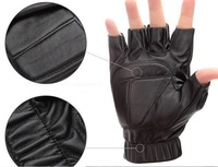 Hot Sell Synthetic Leather Tactical Gloves Half Finger Male Winter Thin Winter And Autumn Men's Motorcycle Winter Gloves Mittens