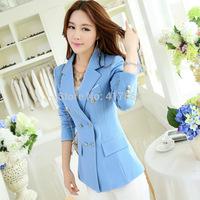 Free shipping U&Me Wholesale 2014 new lady small suit jacket women's large size Korean Slim small suit fashion