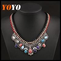 2014 Fashion Necklace Shourouk Chain Chunky Statement Necklaces & Pendant Jewelry Bohemian Multilayer Choker Necklace Women