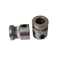 MK8 Drive Gear for 1.75mm/3mm Plastic Filament 3D Printer Reprap Extruder Stainless Steel Wholesale 2pcs/lot With Tracking No.