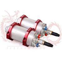 KYLIN - External Fuel Pump 044 for Bosch OEM:0580 254 044 Poulor 300lph + Dual Double 044 Fuel Pump Mounting Bracket