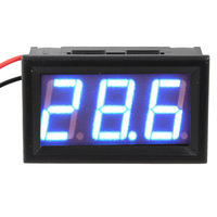 Car Motor 2 Wire DC 3.3-30V Blue LED Digital Volt Meter Voltmeter Voltage Power FreeShipping Wholesale