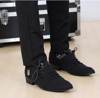 Han edition leisure summer breathable fabric shoes men's shoes wingtip shoes men British men's leather shoes