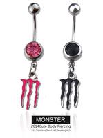 Monster Belly Button Navel Rings NABEL RING 316L PIERCING Dangle  Monster 2PC Body Piercing