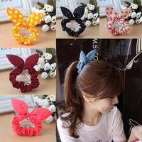 2014 accessories fluorescent ears girls hair accessories sponge bowknot rabbit ears Hair bands hair band hair accessories women