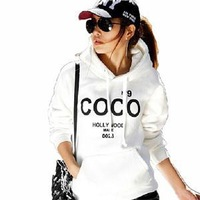 Hot sale!! Women's Hooded Sweatshirts Outwear Hoodies Women Ladies fashion cartoon Coat Winter clothes