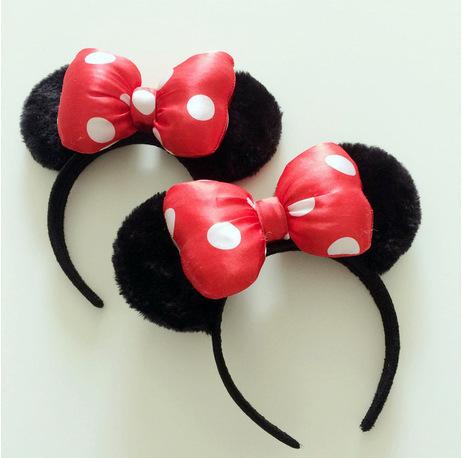 2014 cute headband hair ornamentsminny mouse ears headband for woman and children headwear hair accessories(China (Mainland))