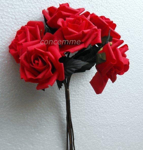 48 hastes ramalhete do casamento RED ROSE grupo de espuma --- grande(China (Mainland))