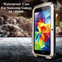 Waterproof Case For Samsung Galaxy S5/I9600 Dirtproof Shockproof  Phone Case Corning Gorilla Glass Eight Colors Free Shipping