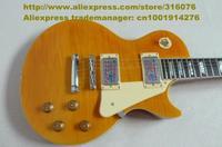 Shiny Yellow Flame Veneer Mahogany Body Rosewood Fingerboard Initiative Adapterization H-H 2 Pickups Electric Guitar No.0019-25