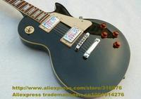 Metal Black Rosewood Fingerboard Mahogany Top Side Back H-H 2 Pickups Jade Tuning Machine 22 Frets Electric Guitar No.0019-26